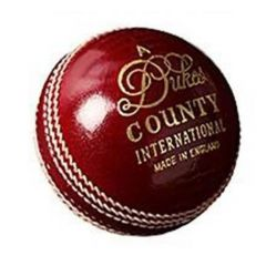DUKES 4PC COUNTRY INTERNATIONAL RED CRICKET BALL