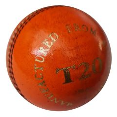 DUKES T20 4 PC CRICKET BALL - ORANGE