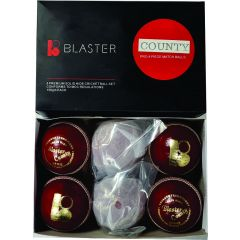 Blaster County Cricket Ball 156g - Red. Box of 6