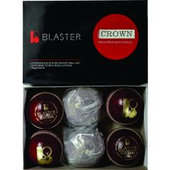Blaster Crown Cricket Ball 142g - Red. Box of 6